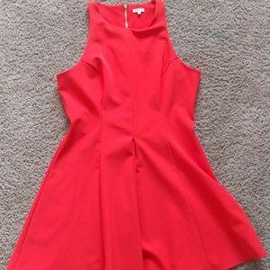 River Island Vivid Orange Scuba Dress Size 12